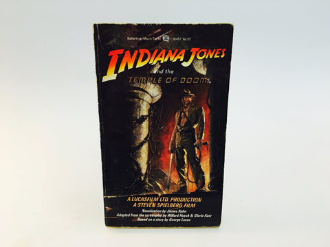 Indiana Jones and the Temple of Doom 1984 Film Novelization Paperback