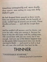 Thinner by Richard Bachman / Stephen King 1985 First Edition Paperback