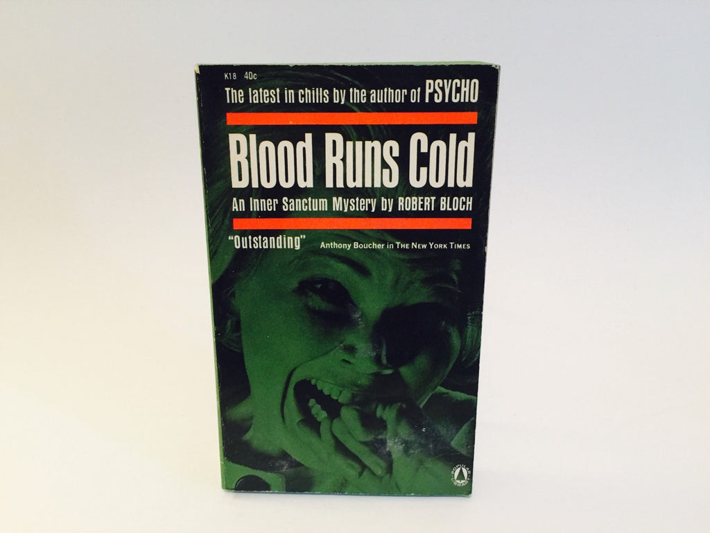 Blood Runs Cold by Robert Bloch 1962 Paperback Anthology - LaCreeperie