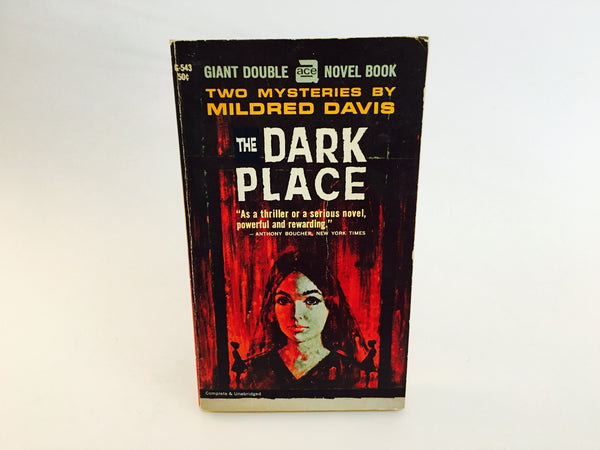 The Dark Place/They Buried A Man by Mildred Davis 1955 Paperback - LaCreeperie