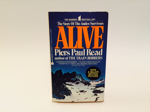 Alive by Piers Paul Read 1980s Movie Tie-In Edition Paperback