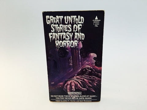 Great Untold Stories of Fantasy and Horror 1969 Paperback Anthology
