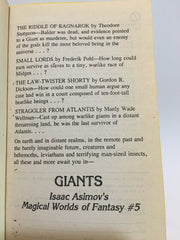 Isaac Asimov's Magical Worlds of Fantasy #5: Giants 1985 Paperback Anthology - LaCreeperie