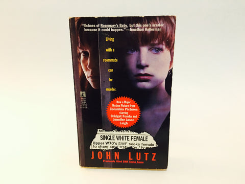 Single White Female by John Lutz 1992 Movie Tie-In Edition Paperback