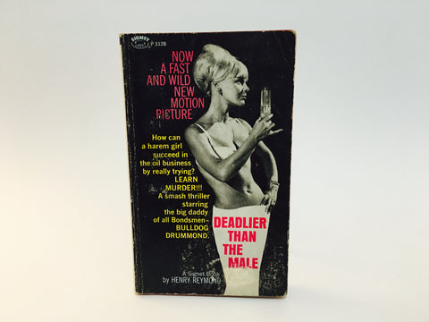Deadlier Than The Male by Henry Reymond 1967 Movie Tie-In Edition Paperback