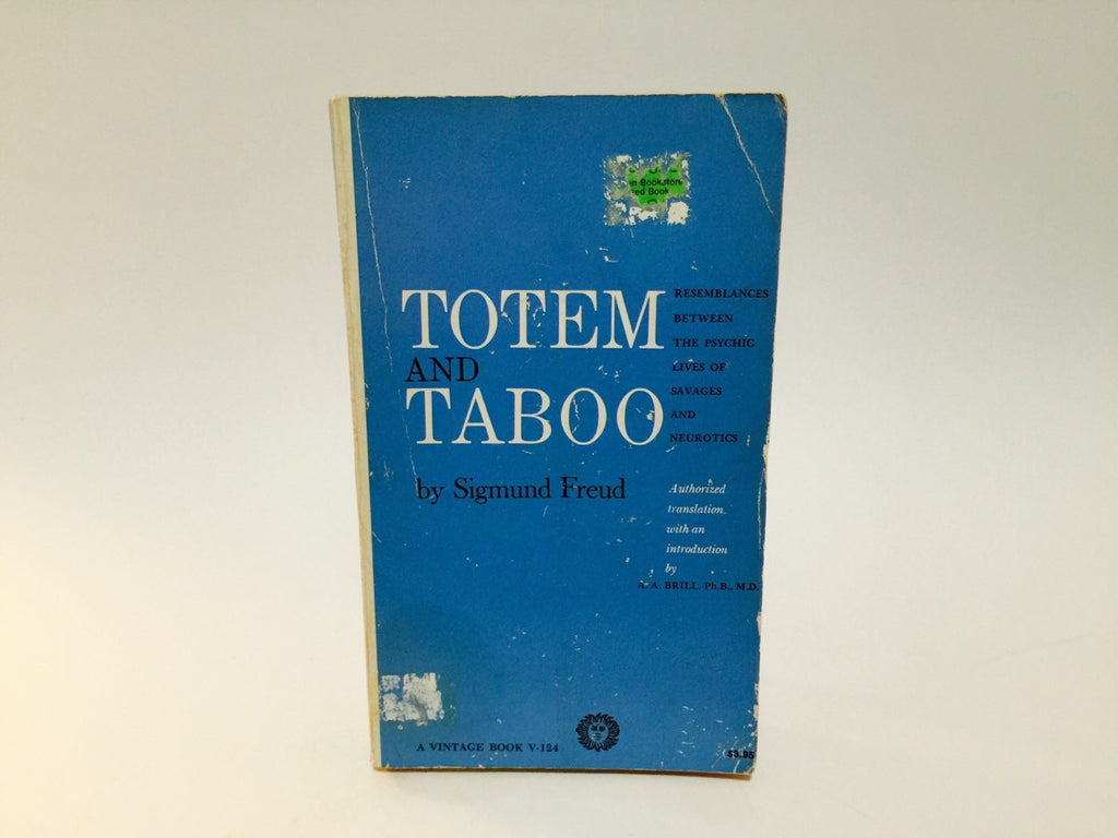 Totem and Taboo by Sigmund Freud 1946 Paperback - LaCreeperie