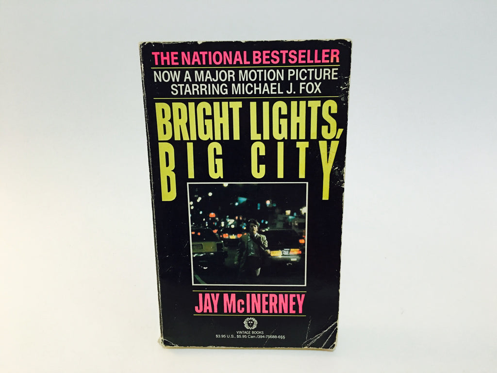 Bright Lights, Big City by Jay McInerney 1987 Movie Tie-In Edition Paperback - LaCreeperie