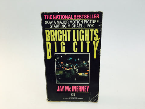 Bright Lights, Big City by Jay McInerney 1987 Movie Tie-In Edition Paperback