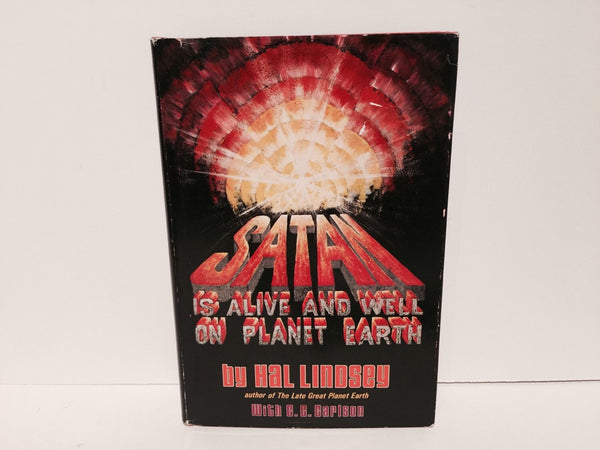 Satan is Alive and Well On Planet Earth by Hal Lindsey 1972 Hardcover - LaCreeperie