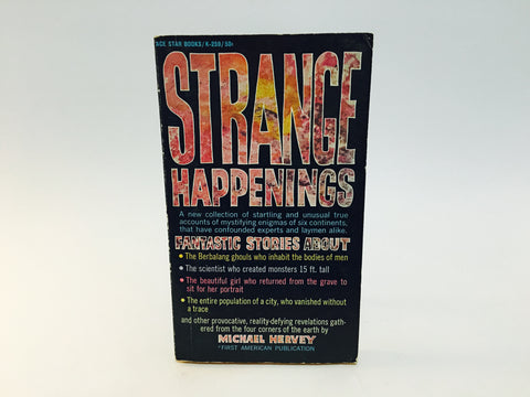 Strange Happenings 1966 Paperback True Stories