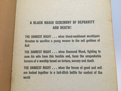 The Darkest Night by Peter Saxon 1967 Paperback Black Magic - LaCreeperie