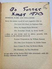 Selections from the Pan Book of Horror Stories #4 1963 Paperback Anthology Series - LaCreeperie