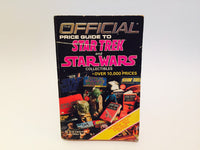 Official Price Guide to Star Trek and Star Wars Collectibles by Sue Cornwell 1986 Softcover - LaCreeperie