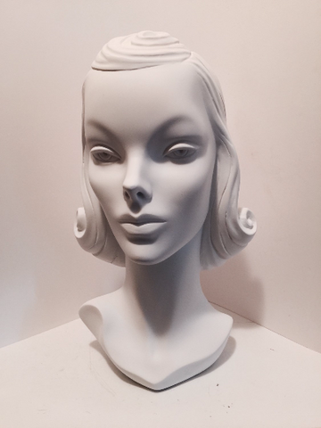Handmade Hat Display Repro Vintage 1940s Mannequin Head