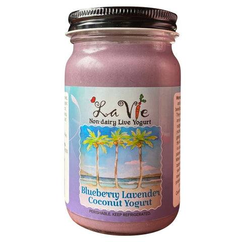 Blueberry Lavender Coconut Yogurt
