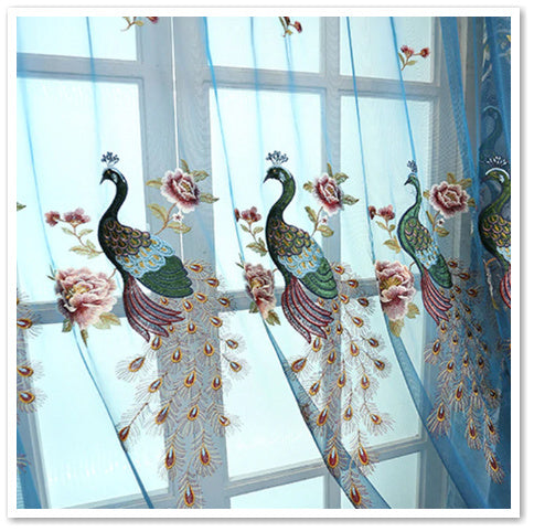 COVER MY WINDOW WITH PEACOCKS: TRANSLUCENT