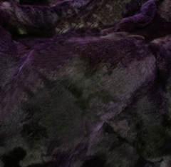 THE SOFT RABBIT IN BLACK PURPLE