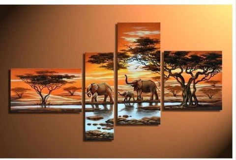 KIDS WALL ART LIQUIDATION SALE ABSTRACT FRAMED CANVAS SETS