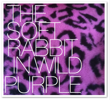 THE SOFT RABBIT IN WILD PURPLE