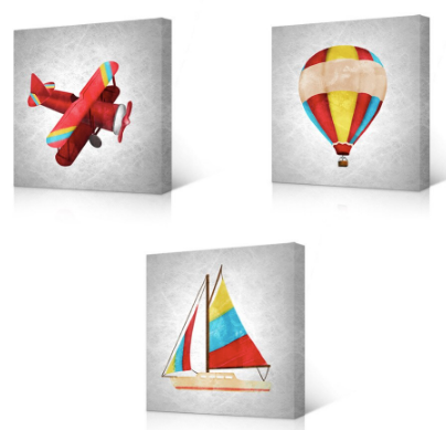 """THE PLANE & BALLOON THEN SAILBOAT"""