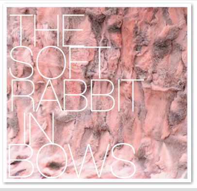 THE SOFT RABBIT IN BOWS