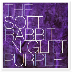 THE SOFT RABBIT IN GLITT PURPLE