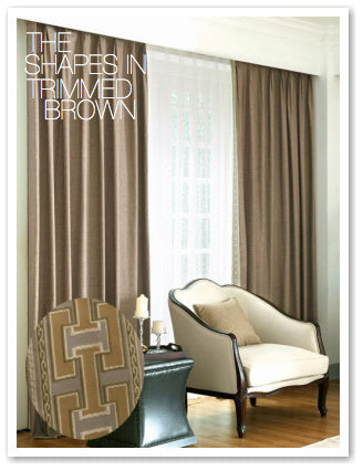 THE SHAPES IN TRIMMED BROWN