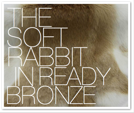 THE SOFT RABBIT IN READY BRONZE