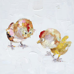 """BRIGHT-EYED CHICKS, NARROW-EYED CHICKS. MOTHER HEN"""