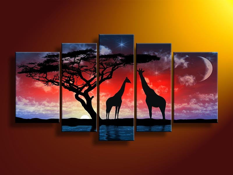 """THE MOON LIT GIRAFFES"""