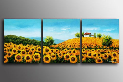 """A FIELD OF SUNFLOWERS"""