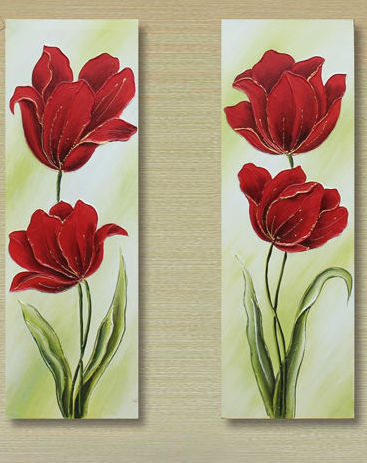"""FOUR RED TULIPS"""