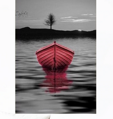"""THE PINK BOAT AT SUNSET"""