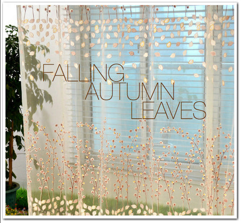 A BREEZE WITH FALLING AUTUMN LEAVES