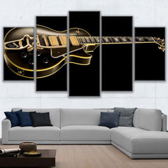 """THE GOLD GUITAR OVER DEEP BLACK"""