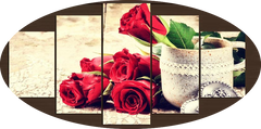 """CUP: GOODNESS. RED ROSE, A CEMENT CUP"""