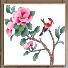 """POINT ONE UP: PINK PEONY BIRD"""