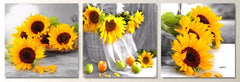 """BASKET OF SUNFLOWERS: TEN THE SIXTEEN EIGHT AND THIRTY AM"""