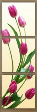"""EIGHT PURPLE TULIPS"""