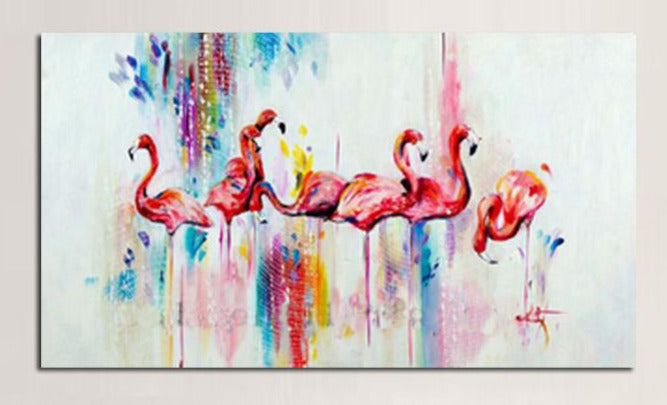 """VERY LITTLE, THEN MORE ENOUGH RAINBOW FLAMINGOS"""