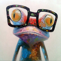 """GLASSES ON A THIN FROG"""