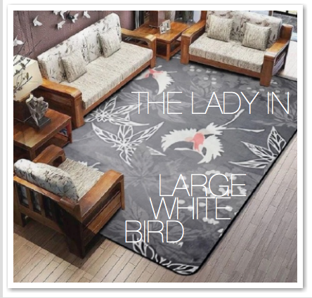 THE LADY IN LARGE WHITE BIRD