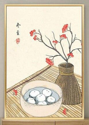 """GAVE SWEET LITTLE RICE BALLS IN A BOWL"""