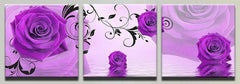 """PURPLE ROSES OUT OF WATER"""