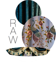 COVER MY WINDOW WITH PEACOCKS: RAW