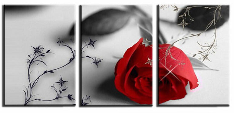 """RED ROSE IN GRAY"""