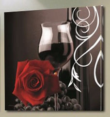 """RED WINE & RED ROSES AT NIGHT"""