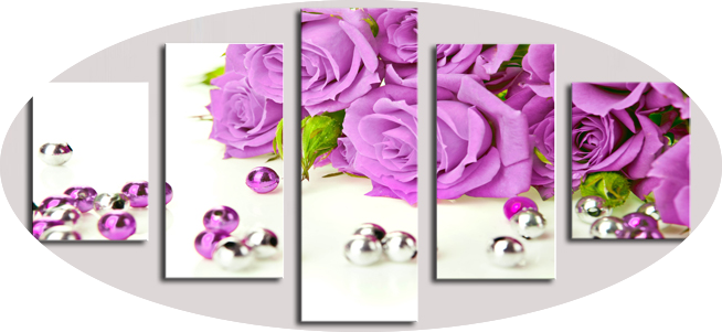 """SILVER BALLS FROM PURPLE ROSES"""