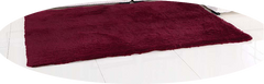 THE CLASSIC RECTANGLE SHAG RUG IN CRANBERRY
