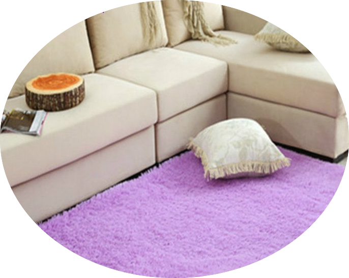 the classic rectangle shag rug in lavender
